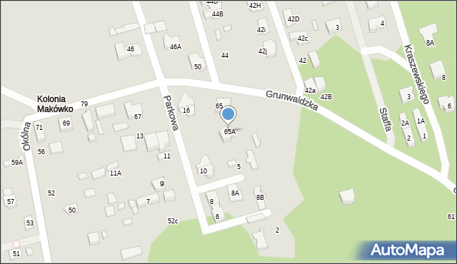 Marki, Grunwaldzka, 65A, mapa Marki