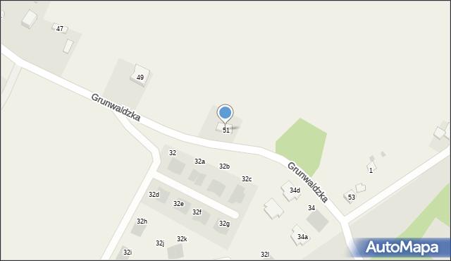 Nowa Wieś, Grunwaldzka, 51, mapa Nowa Wieś