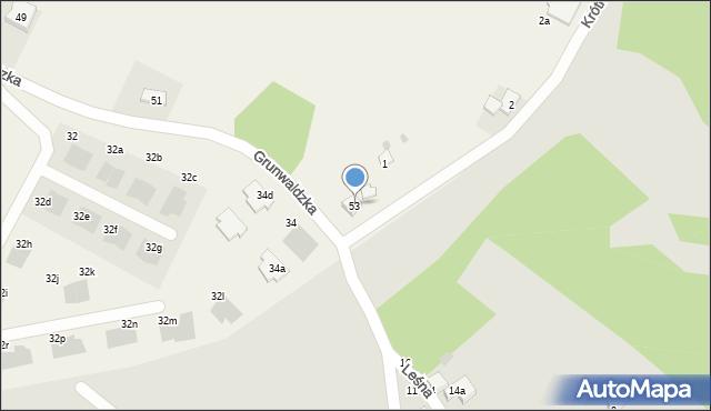 Nowa Wieś, Grunwaldzka, 53, mapa Nowa Wieś