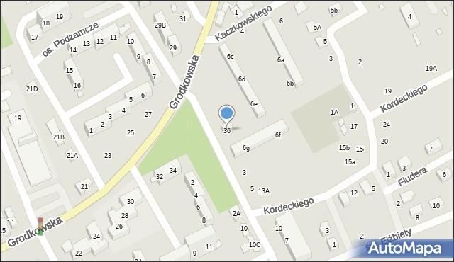 Nysa, Grodkowska, 36, mapa Nysy