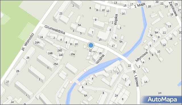 Olecko, Grunwaldzka, 12a, mapa Olecko