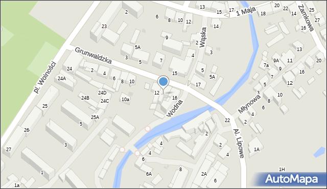 Olecko, Grunwaldzka, 14, mapa Olecko