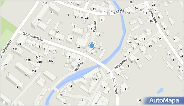 Olecko, Grunwaldzka, 17, mapa Olecko