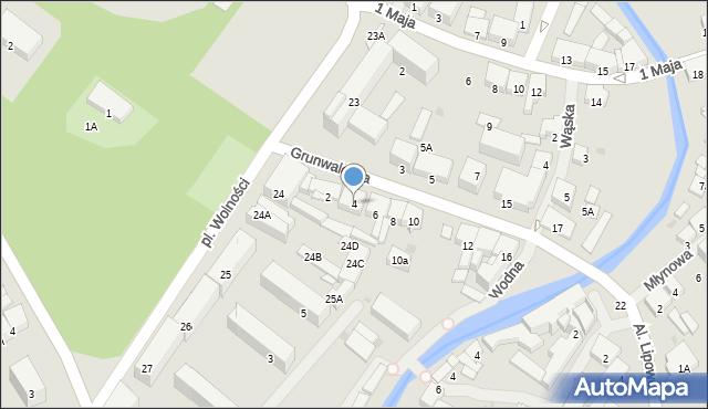 Olecko, Grunwaldzka, 4, mapa Olecko