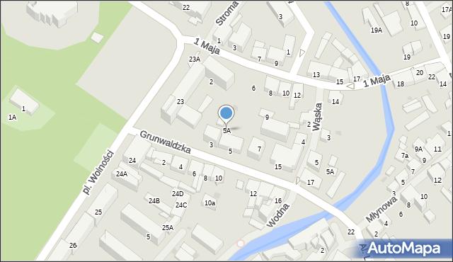 Olecko, Grunwaldzka, 5A, mapa Olecko