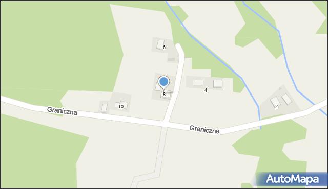 Przeciszów, Graniczna, 8, mapa Przeciszów