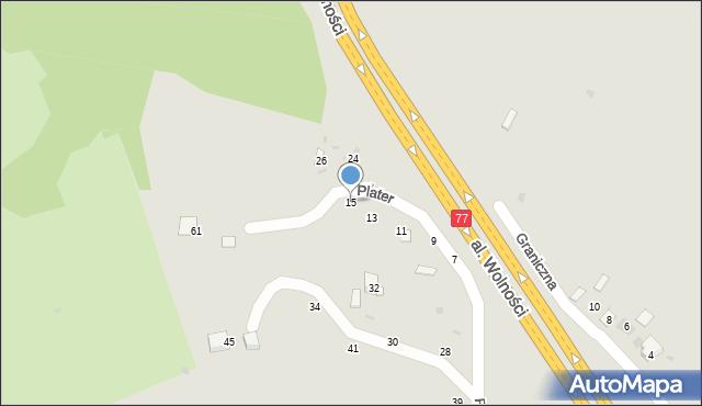 Przemyśl, Graniczna, 15, mapa Przemyśla