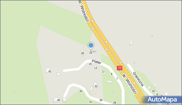 Przemyśl, Graniczna, 24, mapa Przemyśla