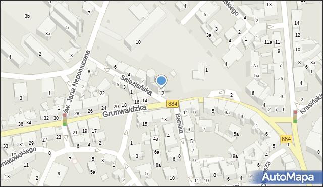 Przemyśl, Grunwaldzka, 12, mapa Przemyśla