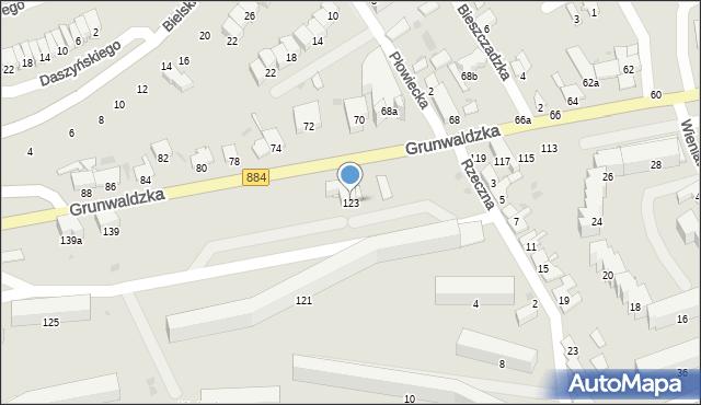 Przemyśl, Grunwaldzka, 123, mapa Przemyśla