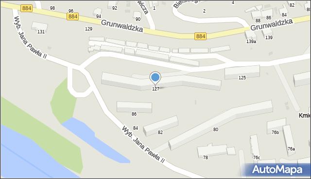 Przemyśl, Grunwaldzka, 127, mapa Przemyśla