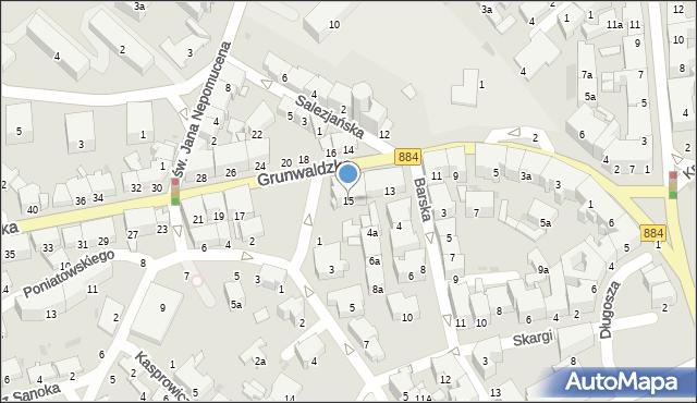 Przemyśl, Grunwaldzka, 15, mapa Przemyśla