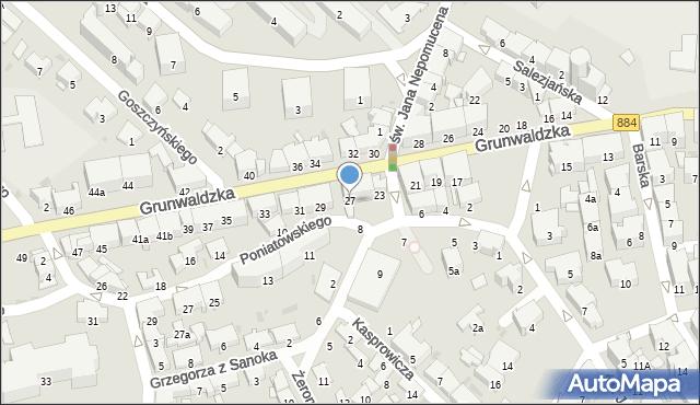 Przemyśl, Grunwaldzka, 27, mapa Przemyśla