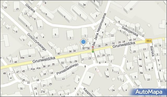 Przemyśl, Grunwaldzka, 32, mapa Przemyśla