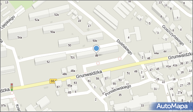 Przemyśl, Grunwaldzka, 48, mapa Przemyśla