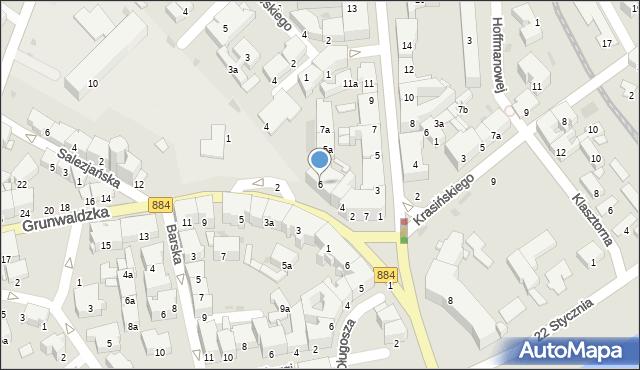 Przemyśl, Grunwaldzka, 6, mapa Przemyśla