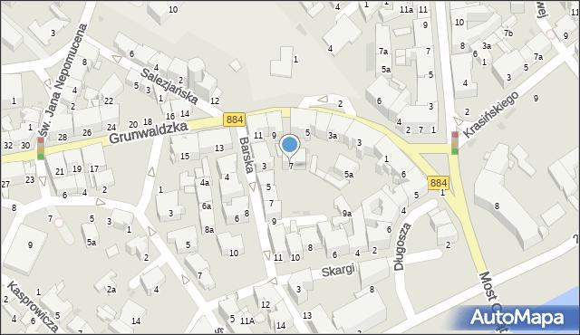 Przemyśl, Grunwaldzka, 7, mapa Przemyśla
