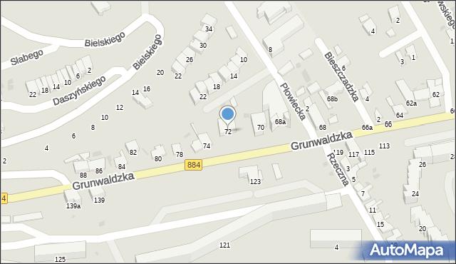Przemyśl, Grunwaldzka, 72, mapa Przemyśla