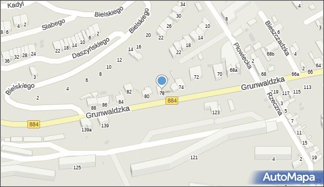 Przemyśl, Grunwaldzka, 78, mapa Przemyśla