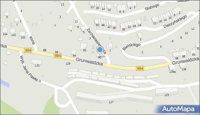 Przemyśl, Grunwaldzka, 90, mapa Przemyśla