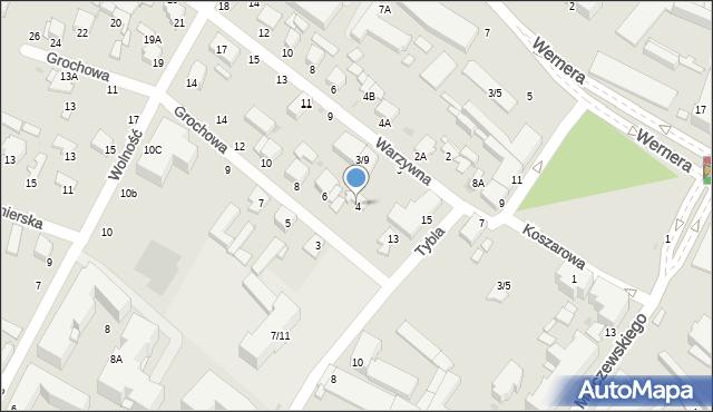 Radom, Grochowa, 2, mapa Radomia