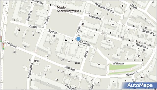 Radom, Grodzka, 2, mapa Radomia
