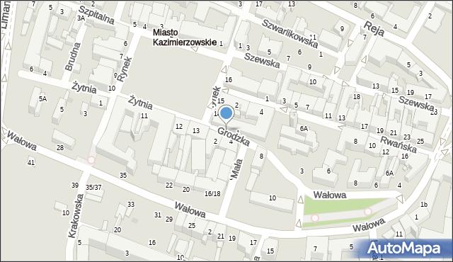 Radom, Grodzka, 5, mapa Radomia