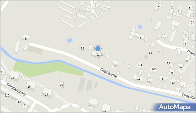 Ruda Śląska, Graniczna, 20, mapa Rudy Śląskiej