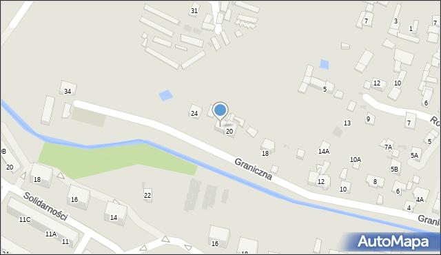 Ruda Śląska, Graniczna, 22, mapa Rudy Śląskiej