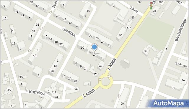 Ruda Śląska, Grodzka, 1A, mapa Rudy Śląskiej