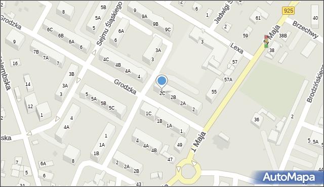 Ruda Śląska, Grodzka, 2C, mapa Rudy Śląskiej