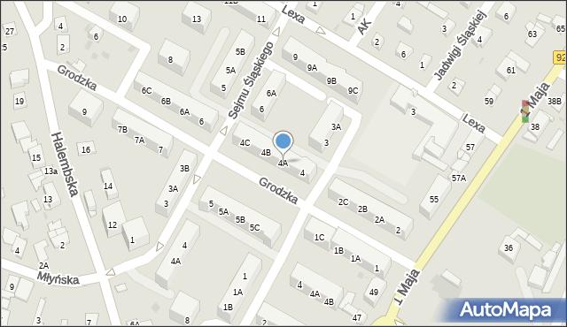 Ruda Śląska, Grodzka, 4A, mapa Rudy Śląskiej