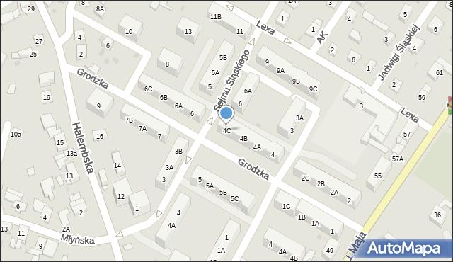 Ruda Śląska, Grodzka, 4C, mapa Rudy Śląskiej