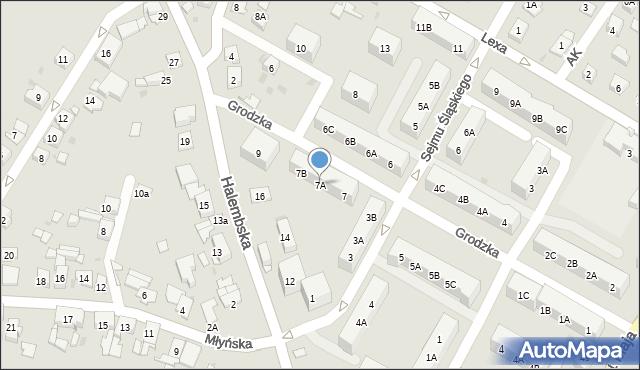 Ruda Śląska, Grodzka, 7A, mapa Rudy Śląskiej