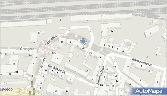 Rzeszów, Grottgera Artura, 22, mapa Rzeszów