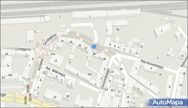 Rzeszów, Grottgera Artura, 26, mapa Rzeszów