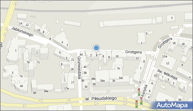 Rzeszów, Grottgera Artura, 4, mapa Rzeszów