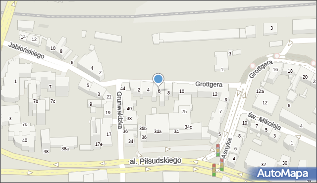 Rzeszów, Grottgera Artura, 6, mapa Rzeszów
