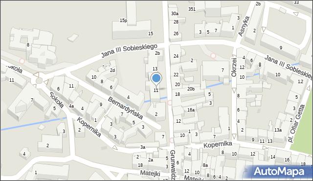 Rzeszów, Grunwaldzka, 11, mapa Rzeszów
