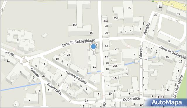 Rzeszów, Grunwaldzka, 13, mapa Rzeszów