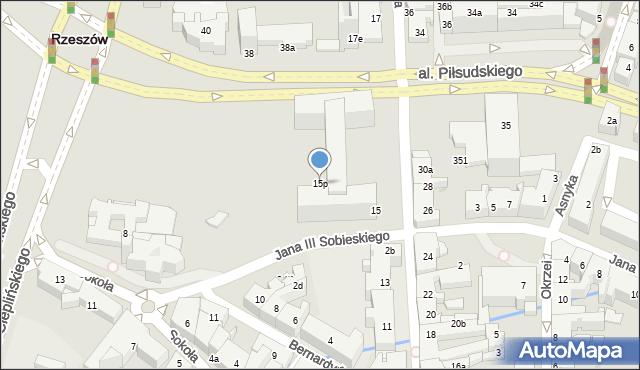 Rzeszów, Grunwaldzka, 15p, mapa Rzeszów