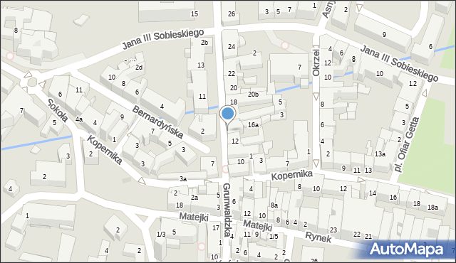 Rzeszów, Grunwaldzka, 16, mapa Rzeszów