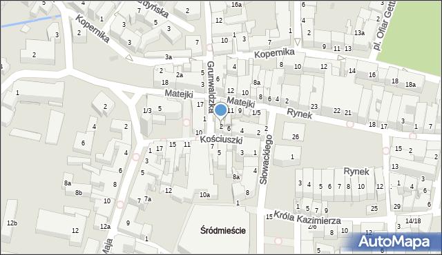 Rzeszów, Grunwaldzka, 2, mapa Rzeszów