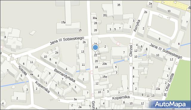 Rzeszów, Grunwaldzka, 22, mapa Rzeszów