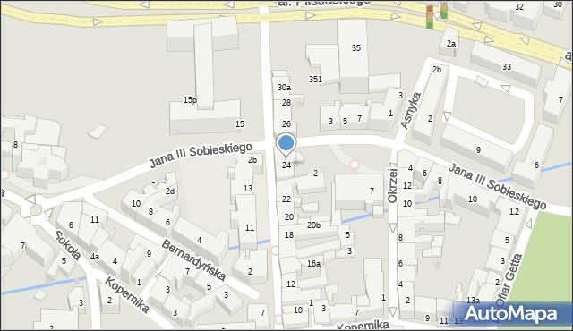 Rzeszów, Grunwaldzka, 24, mapa Rzeszów