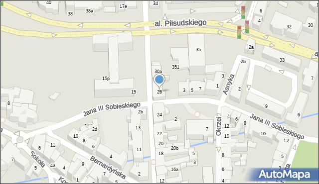 Rzeszów, Grunwaldzka, 26, mapa Rzeszów