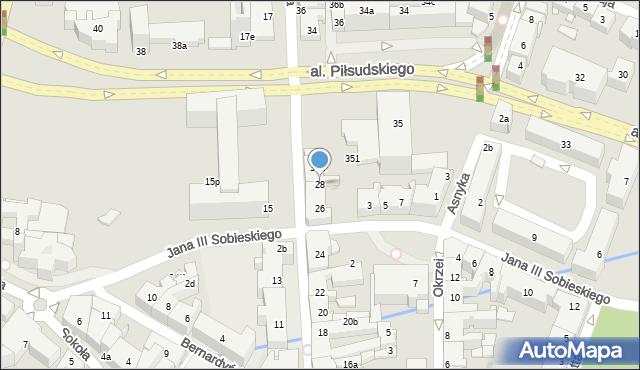 Rzeszów, Grunwaldzka, 28, mapa Rzeszów