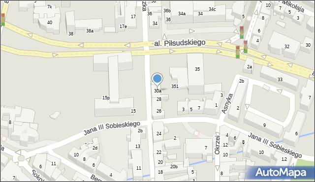 Rzeszów, Grunwaldzka, 30a, mapa Rzeszów