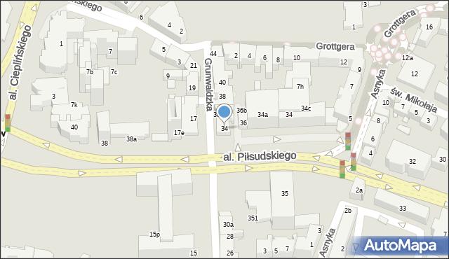 Rzeszów, Grunwaldzka, 34, mapa Rzeszów