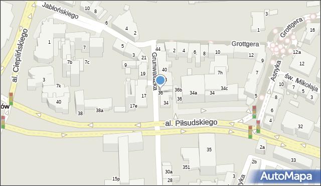 Rzeszów, Grunwaldzka, 36, mapa Rzeszów